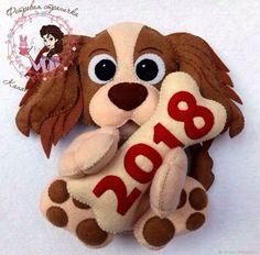 Собачки-символ 2018 года из фетра