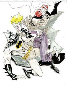 Batman vs The Joker by Yanick Paquette *