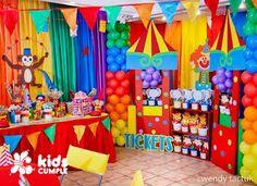 Cumpleaños Safari de Axel - ecumple Carnival Party Foods, Circus Carnival Party, Circus Theme Party, Carnival Themes, Carnival Birthday Parties, Circus Birthday, 1st Boy Birthday, First Birthday Parties, Birthday Party Themes