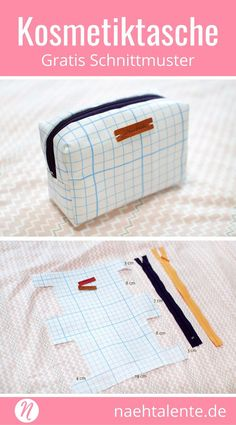 Toiletry bag - makeup bags for makeup and beauty - free sewing patterns / cos . - Toiletry Bag – Makeup and Beauty Makeup Bags – Free Sewing Patterns / Cosmetic Makeup …- - Handbag Tutorial, Pouch Tutorial, Sewing Patterns Free, Free Sewing, Sewing Hacks, Sewing Tutorials, Sewing Tips, Bags Sewing, Tutorial Sewing
