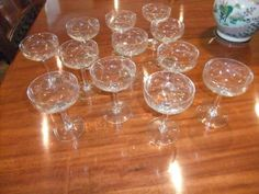 Set of 12 Antique Champagne glasses