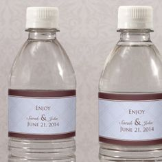 For Welcome Bags:  Personalized Victorian Water Bottle Label  $0.59