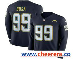 7a54d82424cb6 Men's Los Angeles Chargers #99 Joey Bosa Nike Navy Therma Long Sleeve  Limited Jersey
