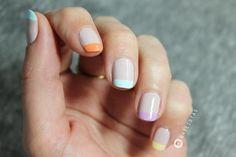 Manicura francesa de colores paso a paso | Cuidar de tu belleza es facilisimo.com