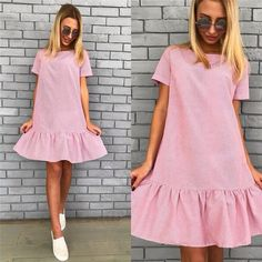 Stunning 49 Impressive Blush Summer Dress Ideas That Trend Now Simple Dresses, Casual Dresses, Short Dresses, Casual Outfits, Summer Dresses, Dress Skirt, Lace Dress, Casual Cocktail Dress, Dress Outfits