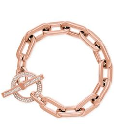 b52c9cebfe69 Michael Kors Chain Link Toggle Bracelet Jewelry   Watches - Fashion Jewelry  - Macy s
