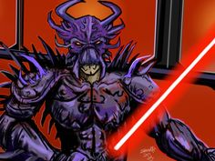 Darth Krayt done on pc and edited on ipad by me with sketchbook pro app.