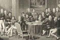 XIX century print illustrating the Congress of Vienna Congress Of Vienna, French Revolution, Tapestry, History, American, World, Illustration, Painting, Politics