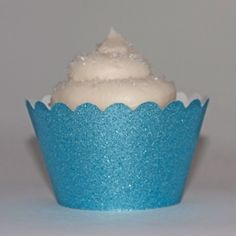 Platinum Glitter Sky Blue #Reusable #Cupcake Wrappers perfect for #baby #shower