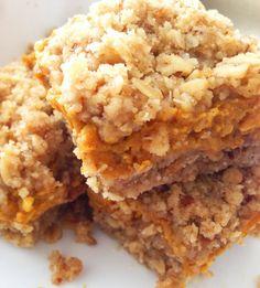 Pumpkin Bars with Pecan Oat Crust | Momma Trouble's Food