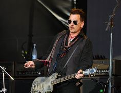 johnny depp | Johnny Depp performs with the Hollywood Vampires in Denmark, June 1 ...