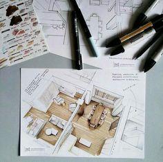 Interesting Find A Career In Architecture Ideas. Admirable Find A Career In Architecture Ideas. Interior Architecture Drawing, Architecture Drawing Sketchbooks, Interior Design Renderings, Architecture Concept Drawings, Drawing Interior, Interior Sketch, Architecture Design, Sketches Arquitectura, Interior Design Presentation