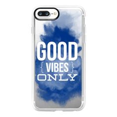 Good Vibes Blue Powder - iPhone 7 Plus Case And Cover (€32) ❤ liked on Polyvore featuring accessories, tech accessories, phones, phone cases, iphone case, clear iphone case, blue iphone case, iphone cases, iphone cover case and apple iphone case
