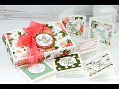 http://mychicnscratch.com/2016/02/thank-you-cards-and-box.html Stampin' Up! Demonstrator Angie Kennedy Juda. Check out my blog for more paper crafting ideas....