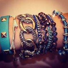 #armswag by @chloeandisabel #chloeandisabel #jewelry #armparty #fashion #style #instafashion #baubles #accessories #dallas #bracelets #bling - @arinbforsten- #webstagram