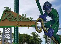 """The Riddler Revenge"" a pendulum ride at Six Flags Over Texas in Arlington, TX. Six Flags, Riddler, Revenge, Texas, Roller Coasters, Amusement Parks, Park, Roller Coaster, The Riddler"