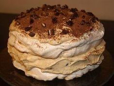 Torcik bezowy z masą krówkowo-mascarpone Tea Recipes, Baking Recipes, Dessert Recipes, Recipies, Poke Cakes, Lava Cakes, Custard Cake, Pavlova, How Sweet Eats