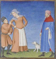 Publius Terencius Afer, Comoediae [comédies de Térence] ca. 1411;  Bibliothèque de l'Arsenal, Ms-664 réserve, 79v