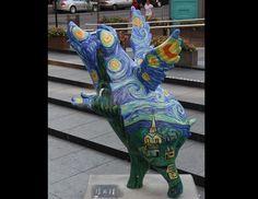 "Name: ""Sowwy Night""Location: Fountain SquareDesigner: Lori Kay FarrSponsor: Convergys. Cincinnati Big Pig Gig 2012"