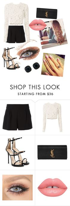 """""""."""" by buflie ❤ liked on Polyvore featuring Boutique Moschino, A.L.C., Giuseppe Zanotti, Yves Saint Laurent, Lime Crime and ABS by Allen Schwartz"""