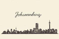 Johannesburg skyline (South Africa) by grop on Creative Market