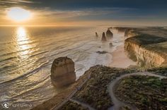 The Twelve Apostles at sunset are just breathtaking! Editing by @f4irness  #Australia #greatoceanroad #costline #landscape #victoria #ocean #beautyofnature #cliffs #whataview #dreams #travel #escape #dji #drone #oz #SpOn_Reise #SpOn_Reise_Perspektivwechsel #stunning #summer #goplaces #sunset #IamDJI #beautiful #beautifulsunset #sea #purenature #beach by flightseeing_travel