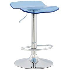 Tabouret LEO - #Tabouret de bar en plexiglas bleu !