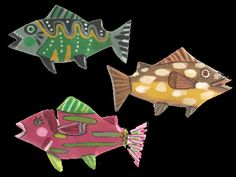 """""""Each Fantasy Fish Pin is an original creation, hand-carved, painted and signed by Terrie Floyd. They measure approximately 2 inches."""