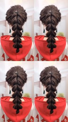 The ponytail hairstyle should be done this way # ponytail Hairstyles videos The ponytail hairstyle should be done this way Easy Hairstyles For Long Hair, Braids For Long Hair, Ponytail Hairstyles, Hairstyles Videos, Short Hair, Hair Up Styles, Long Hair Video, Aesthetic Hair, Hair Videos