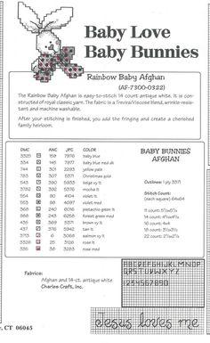 Schema punto croce Baby Bunnies Afghan 04