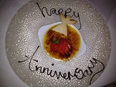 In May my husband and I celebrated our first wedding anniversary at local restaurant The Angel, Long Crendon. We had a truly delicious meal, and the dessert was no exception - rhubarb creme brulee. First Wedding Anniversary, Happy Anniversary, Creme Brulee, Yummy Food, Meals, Breakfast, Ethnic Recipes, Desserts, Blog