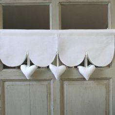 Cantonniere Coeur 90x19cm Decoration Romantique