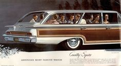 1960 Ford Country Squire for Smitty Retro Cars, Vintage Cars, Vintage Auto, Holden Muscle Cars, Station Wagon Cars, Woody Wagon, Ford Ltd, Mercury Cars, Us Cars