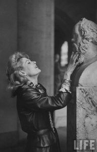 Melina Mercouri - Greek actress, singer and politician - with Socrates
