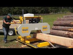 The Frontier Portable Sawmill is a more affordable portable sawmill backed by Norwood's commitment to innovation, safety, and quality. It is our first and only sawmill manufactured outside of North America. Portable Bandsaw Mill, Portable Saw Mill, Portable Band Saw, Lumber Mill, Wood Mill, Woodworking Tools For Beginners, Woodworking Plans, Woodworking Shop Layout, Chainsaw Mill Plans