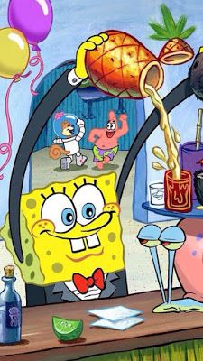 Spongebob Gary Patrick pouring a drink Krusty Krab. Phone wallpaper background for iPhone and Android and iPad. Wie Zeichnet Man Spongebob, Spongebob Friends, Spongebob Pics, Spongebob Drawings, Nickelodeon Spongebob, Spongebob Patrick, Spongebob Iphone Wallpaper, Wallpaper Iphone Cute, Cute Wallpapers