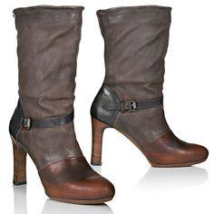 65b98d426267 Tata Damen Stiefeletten Ankle Boots Gr. 36 Velours Leder braun Nieten Neu