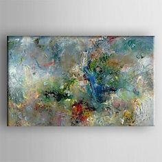 "Piteng? pittura a olio moderna mano pittura astratta tela dipinta con tesa incorniciato , 24"" x 36"""