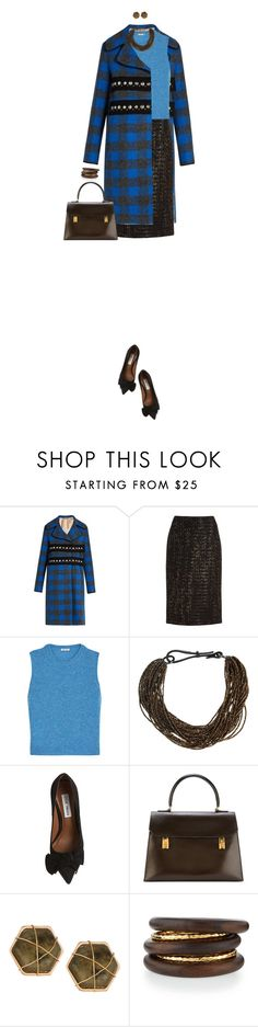 """""""Patterned Coat For Fall"""" by ittie-kittie on Polyvore featuring N°21, Lafayette 148 New York, Miu Miu, Brunello Cucinelli, Steve Madden, Hermès, Panacea, NEST Jewelry, Fall and coat"""