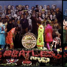 Beatles Guitar, Les Beatles, Ray Charles, Yellow Submarine Art, Famous Album Covers, Beatles Sgt Pepper, Apple Records, Fantasy Art Landscapes, Lonely Heart