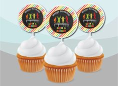 24 Personalised 30th Birthday Party Cup Cake Sandwich Food Flag Topper Buffet
