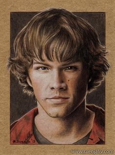 Jared by SvenjaLiv on deviantART Jared Padalecki as Sam Winchester in Supernatural tv series ~ traditional colored pencil drawing Jared Padalecki, Supernatural Drawings, Supernatural Fan Art, Sam Winchester, Hyper Realistic Paintings, Celebrity Drawings, Colorful Drawings, Drawing People, Pencil Drawings