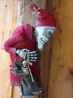 Christmas Time Hunch back Skeleton Santa free by HexiesMercantile, $50.00