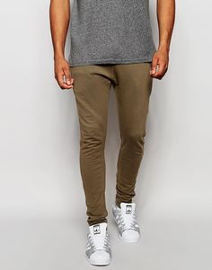 ASOS Super Skinny Joggers In Light Brown