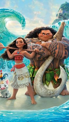 Moana/Vaiana and Maui - Disney Moana Disney, Disney Pixar, Walt Disney, Cute Disney, Disney Animation, Disney And Dreamworks, Disney Cartoons, Disney Magic, Disney Art