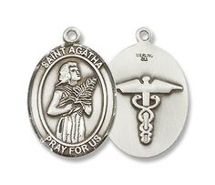 "St. Agatha Sterling Silver Medal with 18"" Sterling Chain Patron Saint of Nurses & Breast Cancer & EMTs Bliss, http://www.amazon.com/dp/B0037LEQ4A/ref=cm_sw_r_pi_dp_tBqFqb0GXX8DC"