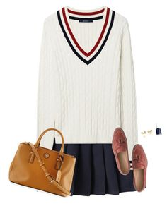 """""""Preppy, Classy, and Happy"""" by sc-prep-girl ❤ liked on Polyvore featuring GANT, Kate Spade, Essie, Tory Burch and J.Crew"""