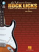 101 Must-Know Rock Licks (Softcover Audio Online)