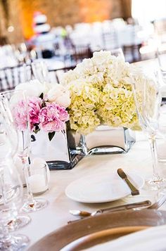 Beautiful floral centerpieces for the reception.