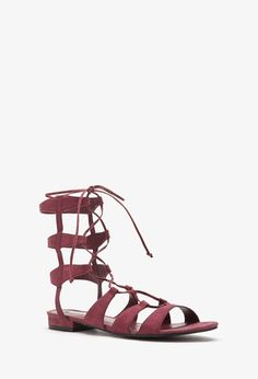 Faux Suede Gladiator Sandals | Forever 21 - 2002248040